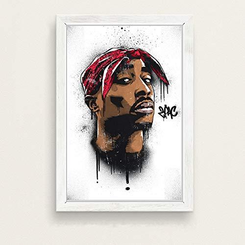 No frame De beruchte GROTE Biggie Smalls Tupac PAC Shakur Hip Hop Gangsta Rap Muziek Kunst Schilderij Poster Muur Home Decor hoge kwaliteit Home Decor voor kinderkamer 40x60cm