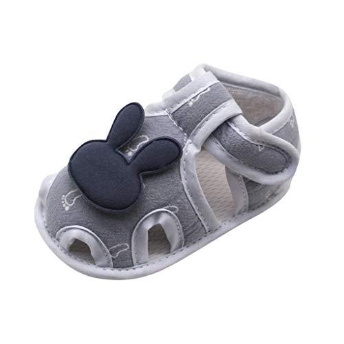NEEKEY Cute Newborn Baby Sandals Infant Boys Girls Printing Cute Bunny Shoes Best Baby Shower Gift(Navy,US:4.5)