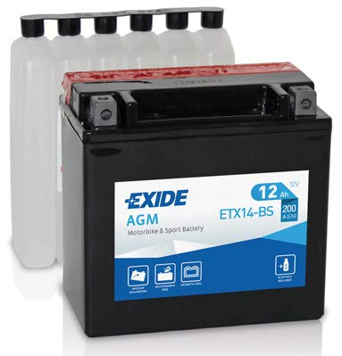 Batteria moto EXIDE ETX14-BS 12AH 200N dimensioni 150X87X145