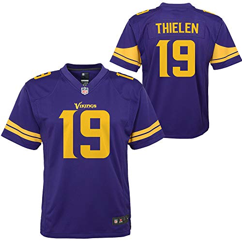 NFL Youth 8-20 Color Rush Alternate Color Game Day Player Jersey (Adam Thielen Minnesota Vikings Purple Color Rush, 5-6)