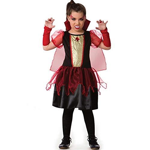 Fantasia de Halloween Vampira de Luxo Infantil Feminina Com Luvas P 2-4