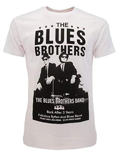 Sabor srl T-Shirt The Blues Brothers Originale Bianca Prodotto Ufficiale Blues Brothers Band Film Cult Maglia Maglietta Unisex (M)
