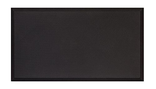 Mount-It! Anti-Fatigue Mat For Standing Desk, Kitchens, Garages, Premium Quality Rubber Gel, 19.7 inches (W) x 35.4 inches (L), Soft Ergonomic Comfort, Black