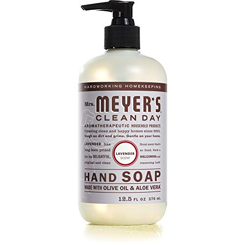 Mrs. Meyer's Clean Day Liquid Hand Soap, Cruelty Free and Biodegradable Formula, Lavender Scent, 12.5 oz- Pack of 6