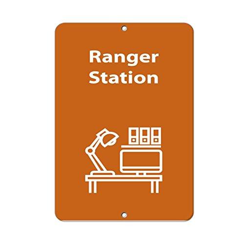 Monsety Rustikales Metallschild, Motiv: Ranger Station Aktivitätenschild Park Guide N bis Z, Aluminium Wanddekoration