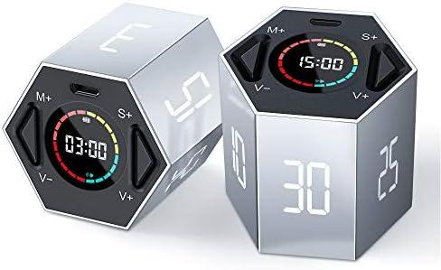 PIHEN Timer Kitchen Timer Multi Function Electronic Digital Timer for Kids Flip Timer with Time product image