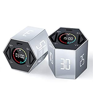 PIHEN Timer, Kitchen Timer Multi-Function Electronic Digital Timer for Kids, Flip Timer with Time and Alarm Function, Suitable for Work, Exercise, Games, Cooking
