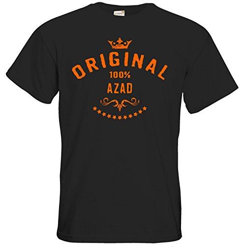 getshirts - Rahmenlos® Geschenke - T-Shirt - Namenstag - Maenner Vorname 100 Prozent Azad - Black L