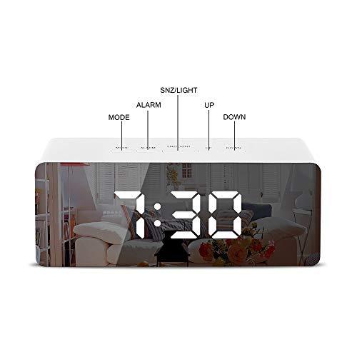 LED-Digitalwecker, LED-Nachtmodus Smart-Wecker Nachttisch, Aber Auch Für Make-Up-Anwendungen LED Snooze Night Lights Temperature Home Decor