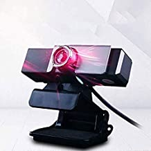 Yuxahiugstx Desktop Computer Webcam, HD Laptop Video with Microphone Anchor Live Broadcast USB Free-Drive Webcam, Home Int...