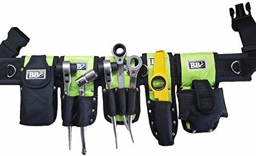 Scaffolding Nylon HI VIZ Tool Belt.- 8 Toolset in 1 Belt Safety with Lanyards Rings