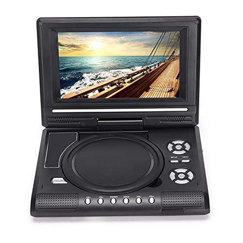 Reproductor de DVD Portátil HD con giro de 270 ° Reproductor de DVD móvil con control remoto USB Con función de TV analógica, Escalado Full HD 1080p, HDMI, Conexiones de video, Puerto USB(UE LMD-750)