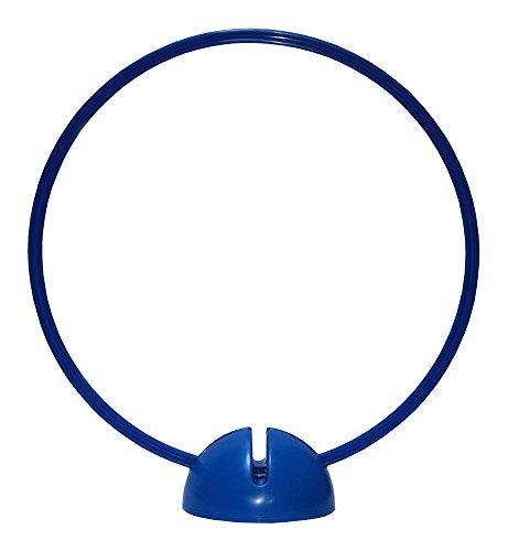 Boje Sport Agility Hundesport – Koordinationstraining, Ausdauertraining, Sprungtraining, Sprinttraining, Multifunktions - X-Standfuß und Multifunktions - Ring/Reifen Ø ca. 60 cm – Farbe blau