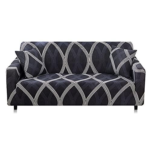 WXQY Funda de sofá Bohemia,Funda de sofá con patrón de Mandala,Funda de sofá de protección para Muebles de Sala de Estar Antideslizante Envuelto herméticamente A10 3 plazas