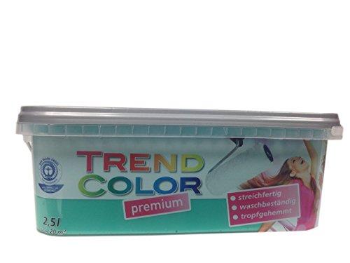 Meffert Trend Color Premium Matte Innen - Dispersionsfarbe Farbton wählbar 2,5 Liter, Farbe:Mint