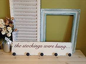 Ssxuxi-Wood Sign Wood Stocking Hanger, Stocking Hanger Wood, Stockings were Hung