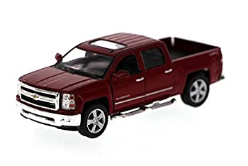 Kinsmart 2014 Chevy Silverado Pick-up Truck Red 5381D - 1/46 Scale Diecast Model Toy Car
