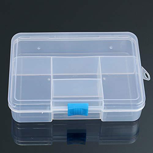 MYAMIA 5 Rejillas Transparente PP Contenedor De Almacenamiento Ajustable Respetuoso del Medio Ambiente DIY Artesanía De Joyería Organizador Divisores Caja