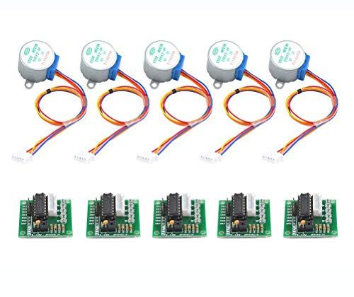 DollaTek 5Pcs 28BYJ-48 ULN2003 5 V Schrittmotor + ULN2003 Treiberplatine für Arduino