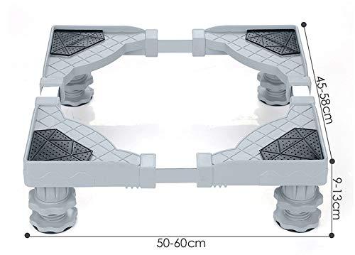 RENNICOCO Refrigerador de Acero Inoxidable Base de la Lavadora Base de Lavadora portátil Secadora Soporte Multifuncional móvil con Base Ajustable de 4 pies para Secadora, Lavadora