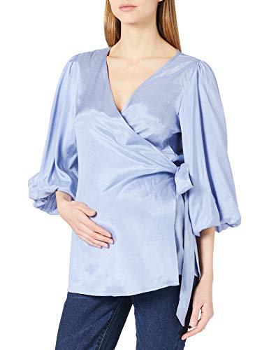 Mamalicious MLMARIAH 3/4 Woven Wrap Top Camicia da Donna, Manore Inglese, S