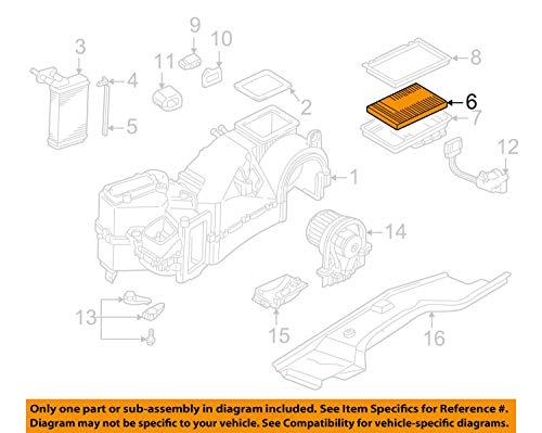 Volkswagen Genuine Pollen Filter, 1J0-819-644-A