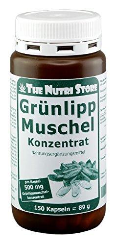 Grünlippmuschel 500 mg Konzentrat Kapseln 150 Stk. - nicht entfettet