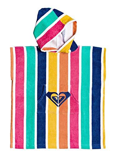 Roxy Stay Magical-Poncho-Toalla para Surf para Niños, Monaco Blue Pong Stripes s, 1SZ