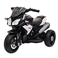HOMCOM Kids 6V Electric Ride On Motorcycle Vehicle w/ Lights Music Horn 3 Wheel Outdoor Play Toy for...