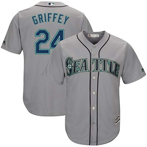 Ken Griffey Jr. Seattle Mariners Gray Alternate Replica Jersey (Large)