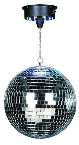 Ibiza DISCO1-30 Discokugel/Spiegelkugel mit Motor, silberfarben