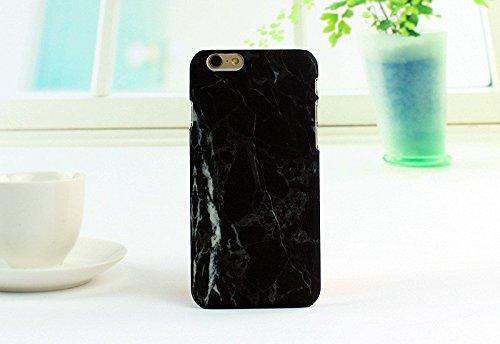 Carcasa para iPhone 6 y 6S, diseño de mármol, Color Negro