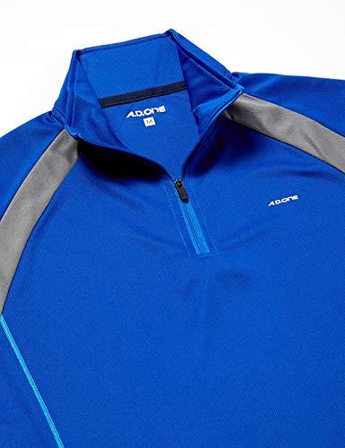 『(エーディーワン)A.D.ONE QUICKDRY クイックドライ ゴルフシャツ 吸汗速乾機能 ハーフジップシャツ スポーツシャツ AD-786B』の2枚目の画像