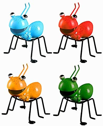 All stores are sold 4PCS Ant Garden Decor Set Art OFFicial shop Hanging Metal Ornament