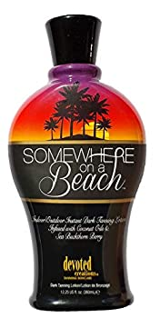 Somewhere on a Beach Indoor Outdoor Instant Dark Tanning Lotion 12.25 Ounce
