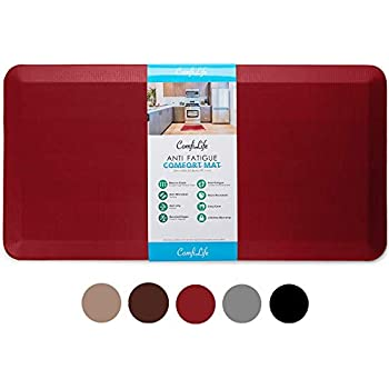 Cook N Home Anti-Fatigue Comfort Mat Faux Leather 39 x 20 3//4 Thickness 39 x 20 3//4 Thickness 02546 Black
