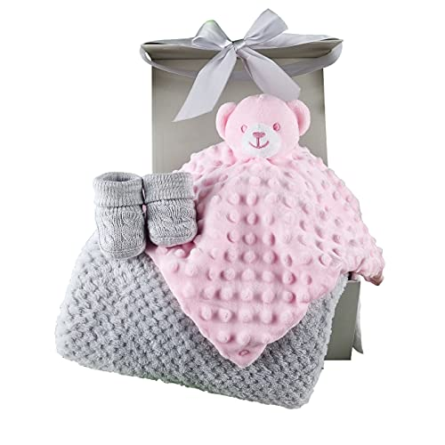 New Baby Girl Gifts Set Pink Teddy Baby...