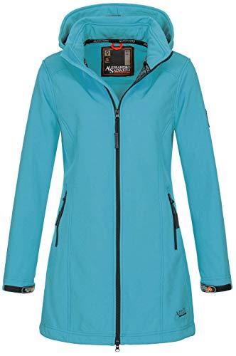 A. Salvarini Damen Softshell Jacke wasserabweisend Outdoor lang AS-131 [AS-131-Babyblau-Gr.3XL]
