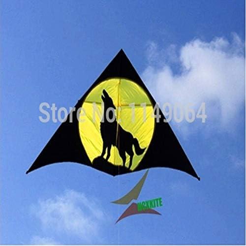 ZSYF Drachen Kite 3M Wolf Drachen Mit 100M Drachenleine Drachen Stoff Ripstop Kinder Drachen Besser Drachen Steigen Lassen