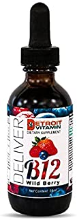 Vitamin B12 Liquid Sublingual Drops, Energy Supplement to Help Memory, Focus, Concentration, Alertness, Mood and Metabolism, Vegan Dietary Supplement for Men, Women, and Kids - Detroit Vitamin