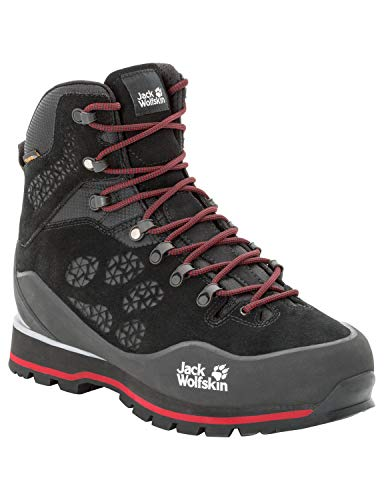 Jack Wolfskin Herren Wilderness Peak Texapore MID M Sneaker, Schwarz Black Red 6047, 44 EU
