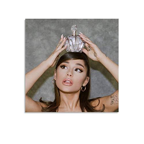 HJHG Póster decorativo para pared con perfume Ariana Grande Ariana Grande Ariana Grande Ariana Grande Grande, sesión de fotos, lienzo decorativo para sala de estar, dormitorio, 70 x 70 cm