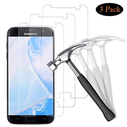 NUOCHENG Panzerglas Schutzfolie für Samsung Galaxy S7, [3 Stück] 9H gehärtetes Glas, Anti-Kratzer, Bläschenfrei, Ultra Transparenz Full HD, Panzerglasfolie Displayschutzfolie für Samsung S7