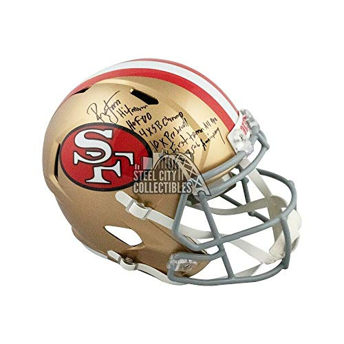 Ronnie Lott Autographed Signed 49Ers Tribute Full-Size Football Helmet Beckett Inscrip