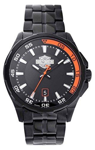 HARLEY-DAVIDSON Reloj Analógico para Hombre de Cuarzo con Correa en Acero Inoxidable 78B141