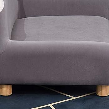 Pawhut Canapé Chien lit pour Chien Design Dossier Oreilles Pieds Bois Massif dim. 63 x 43 x 31 cm Velours Gris