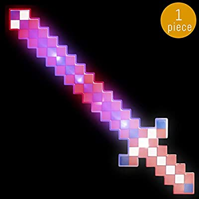 Lumistick 24 Inch Light-up Diamond Pixel Sword