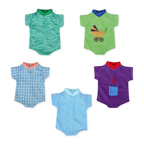 WakaoFeeling 5 Pieces Baby Doll Boy Clothes for 14-15 Inch Alive Dolls,Accessories Clothing for American Newborn Reborn Baby Dolls -  WF202007071415-1