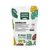 NaturGreen - Espirulina en Polvo, Alga Espirulina, Ecológico, Ideal para Bebidas, Batidos y Recetas, 70% Proteína Vegetal - 175 g