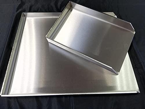 400 x 300 mm Edelstahl V2A Plancha Grillpfanne Grillplatte I Massiv 4,0 mm, 4,8 KG I 40x30 cm I Gasgrill